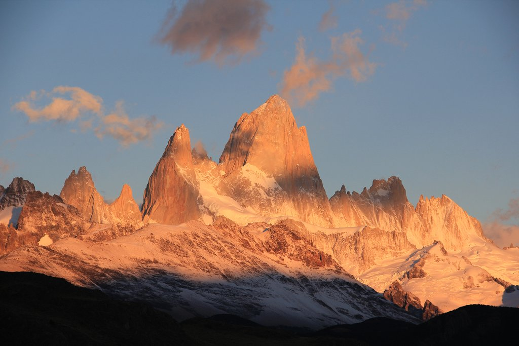 Patagonia's Mt. Fitz Roy at sunrise