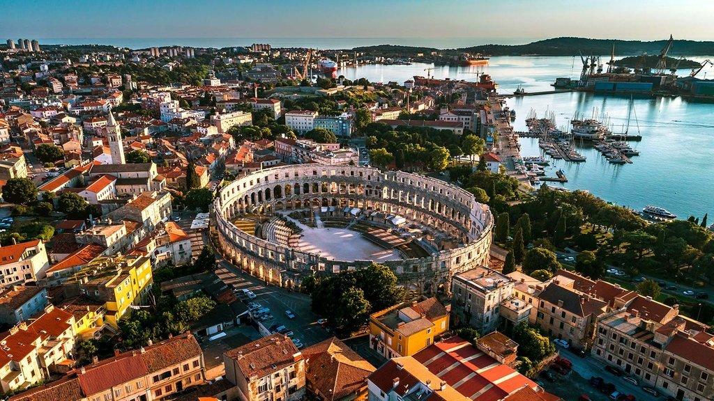 Pula's Roman Arena, a mini Colosseum