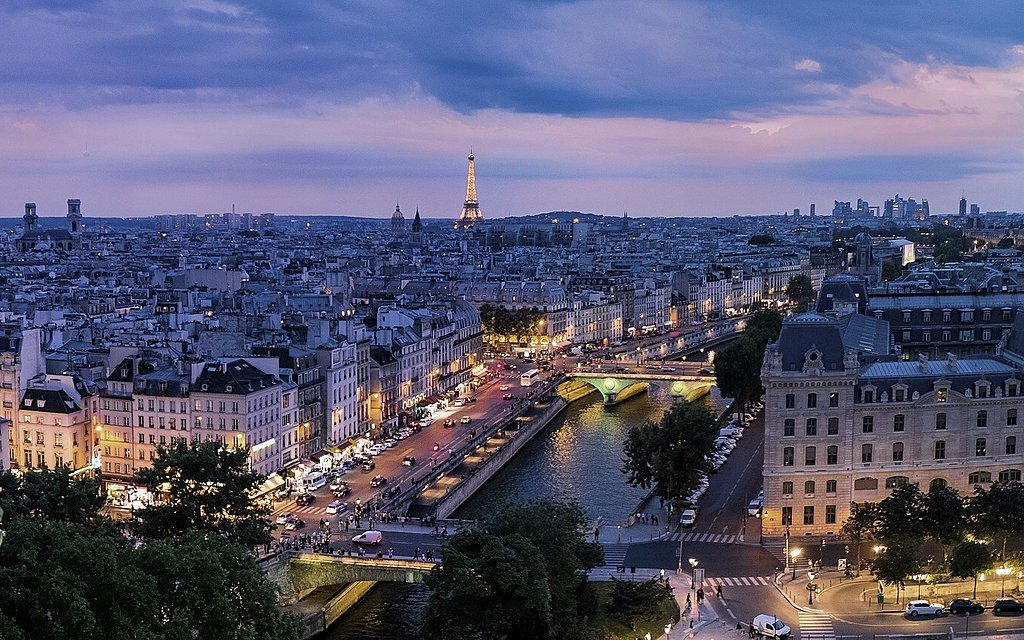 The City of Lights at Dusk