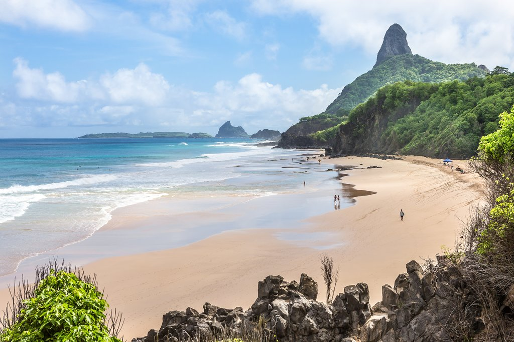 A secluded beach on Fernando de Noronha