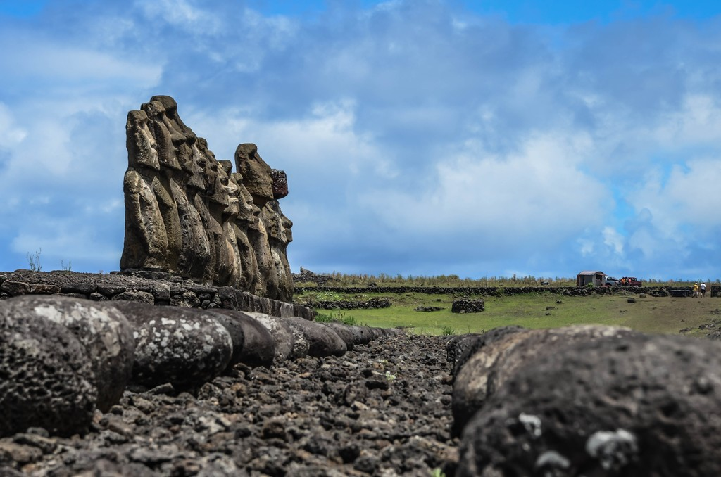 Moai statues on Easter Island