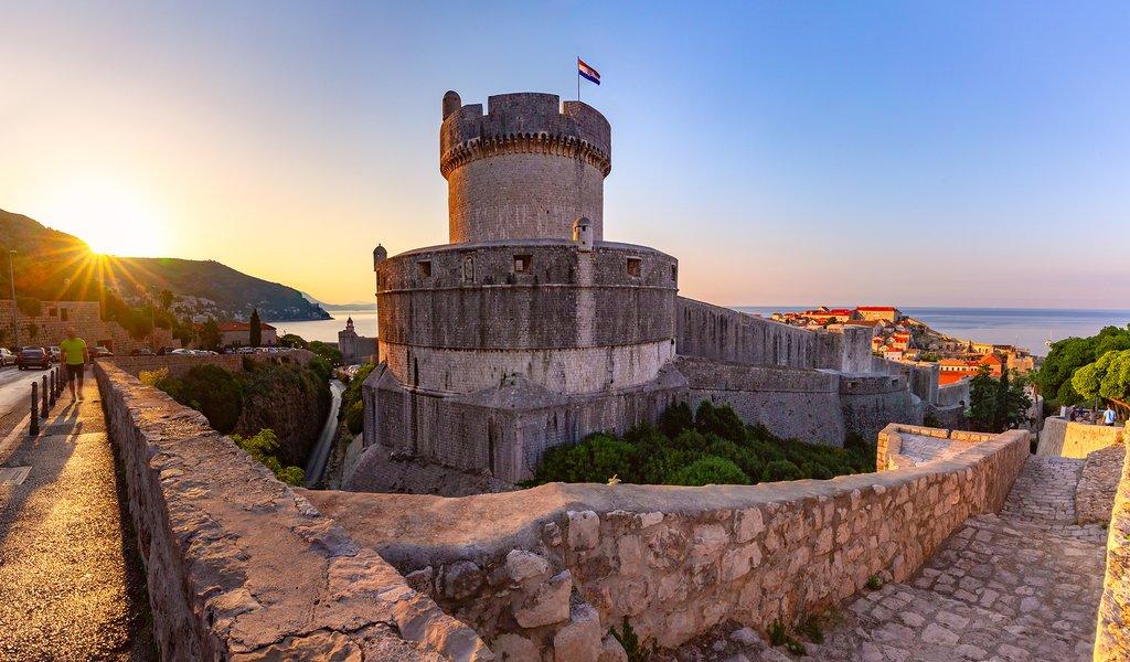 Dubrovnik Walls at Sunset