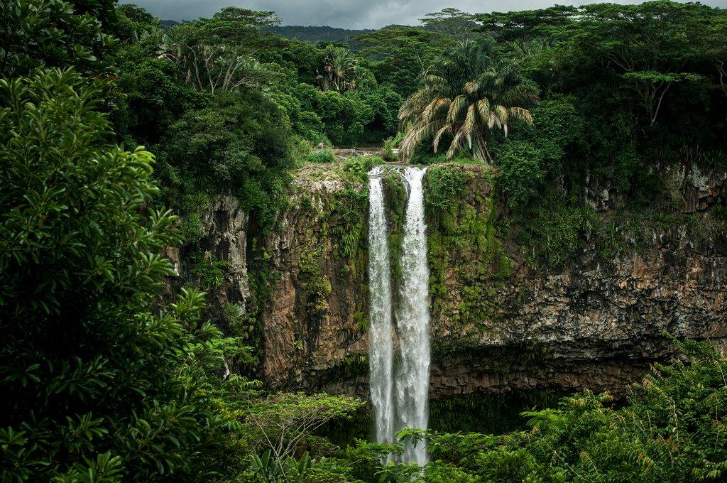 Chamarel waterfall on Mauritius