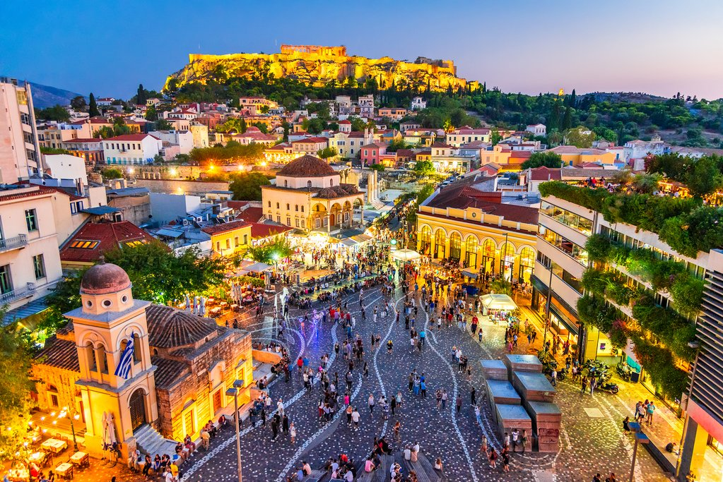 Athens aglow at dusk