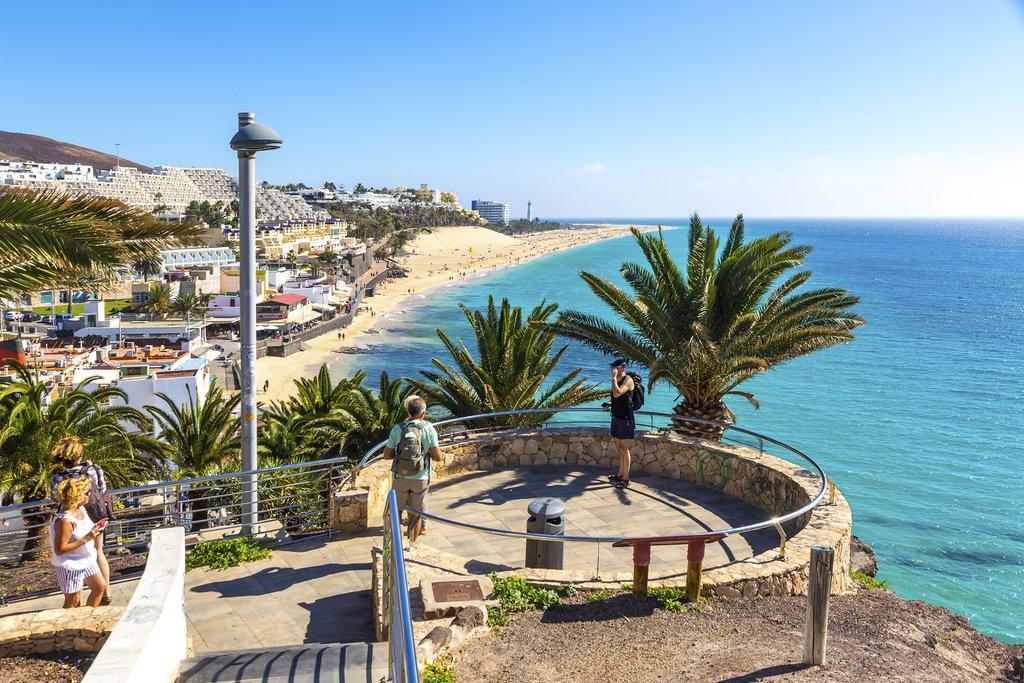 Morro Jable Beach on the island of Fuerteventura