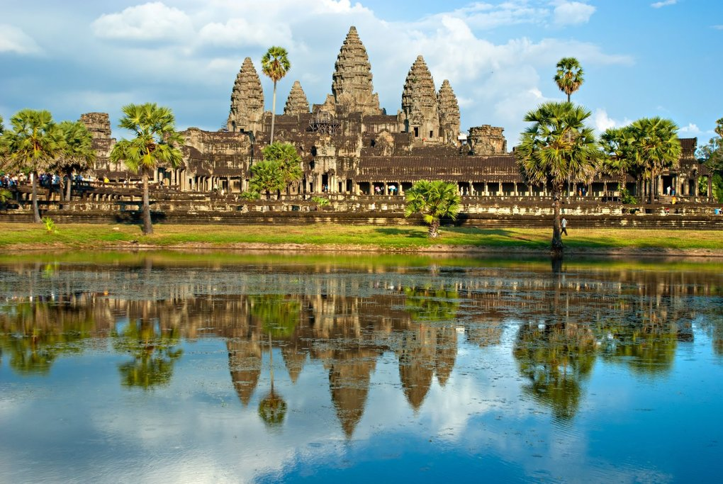 Visit Angkor Wat, the largest religious building in the world