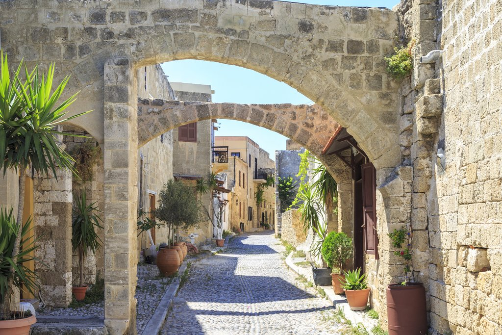 Old Town streets in Rhodes