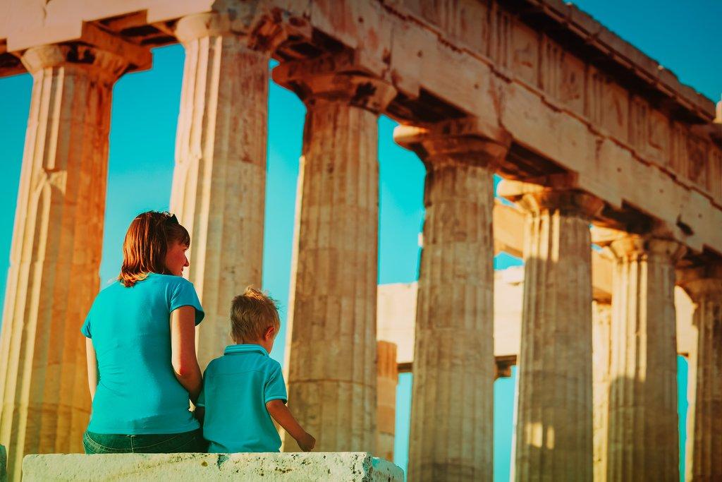 Taking in the Parthenon