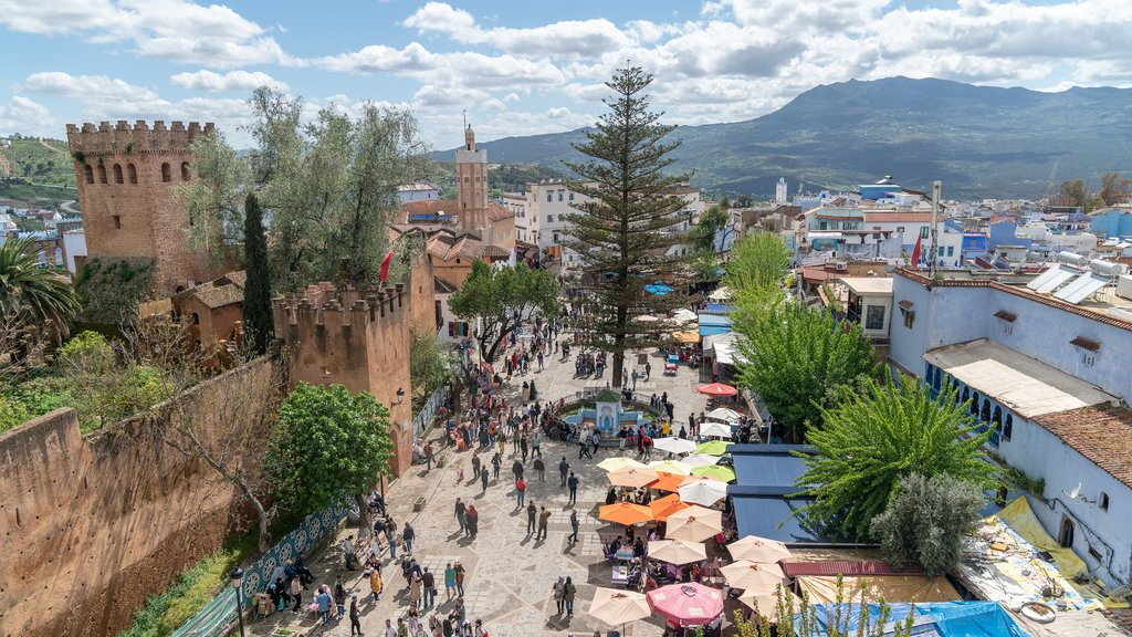 Chefchaouen, with its blue medina and mountain scenery, is a popular destination
