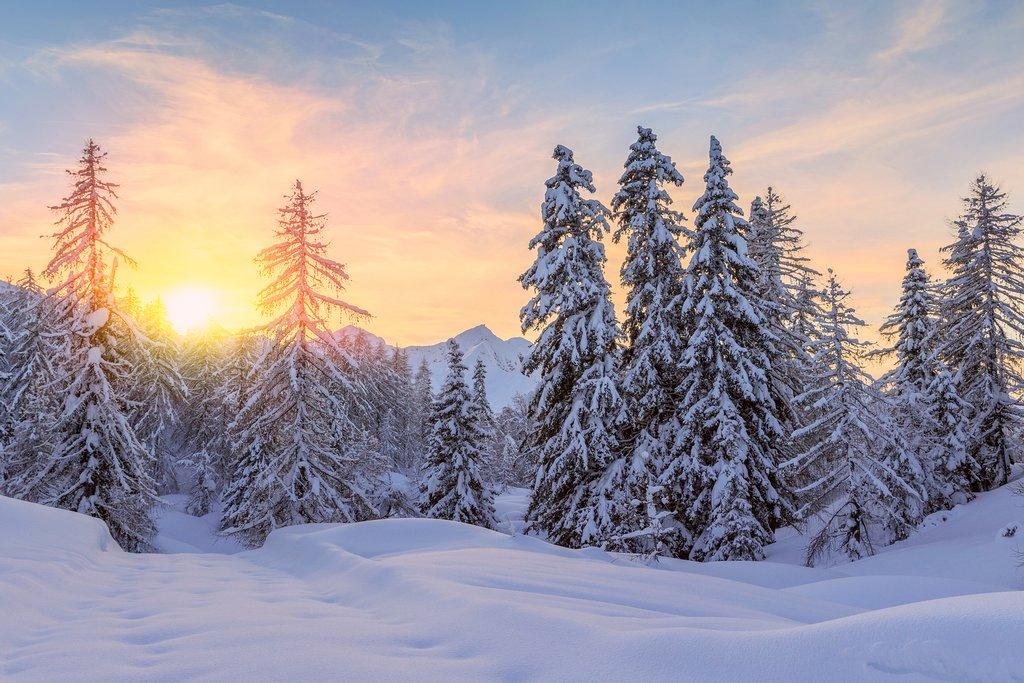 Wintry scene in the Julian Alps