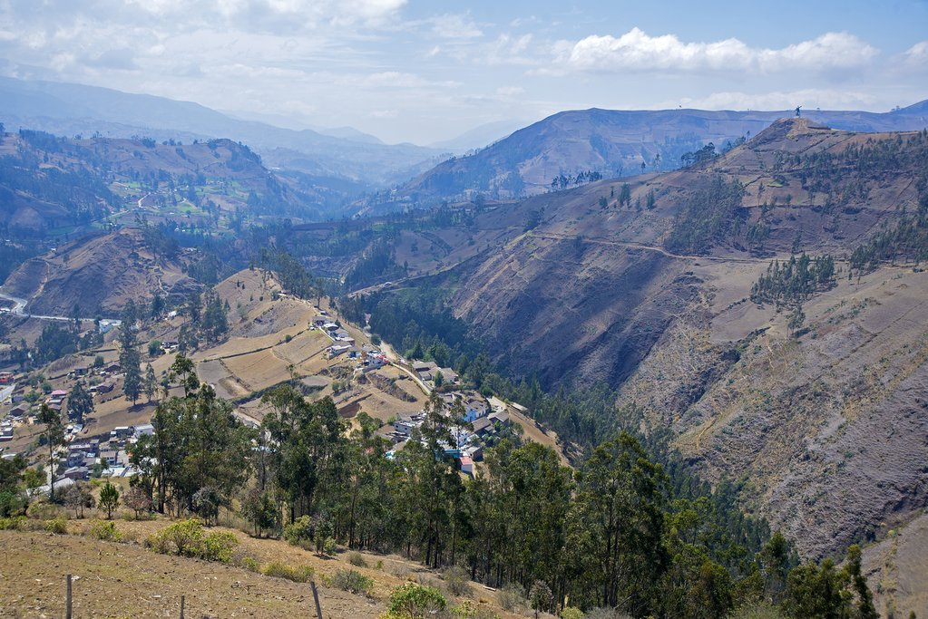 The mountains surrounding Guaranda, an off-the-beaten-path town in Ecuador well worth visiting.