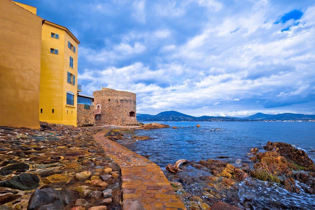Saint-Tropez looks out onto the Mediterranean