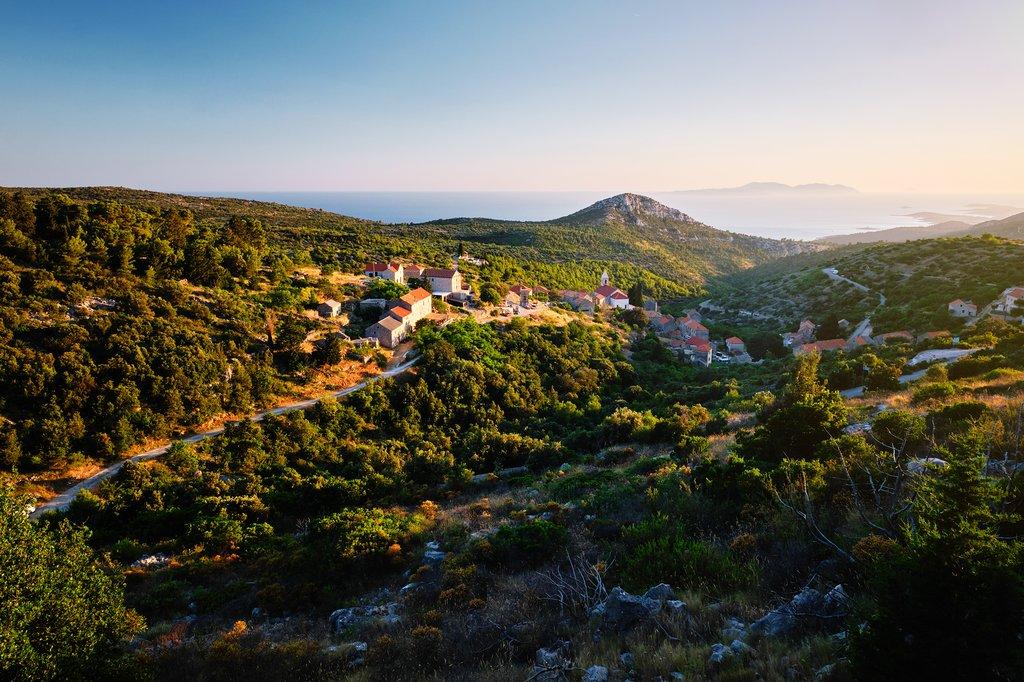 Brusje. one of the older villages on the island of Hvar