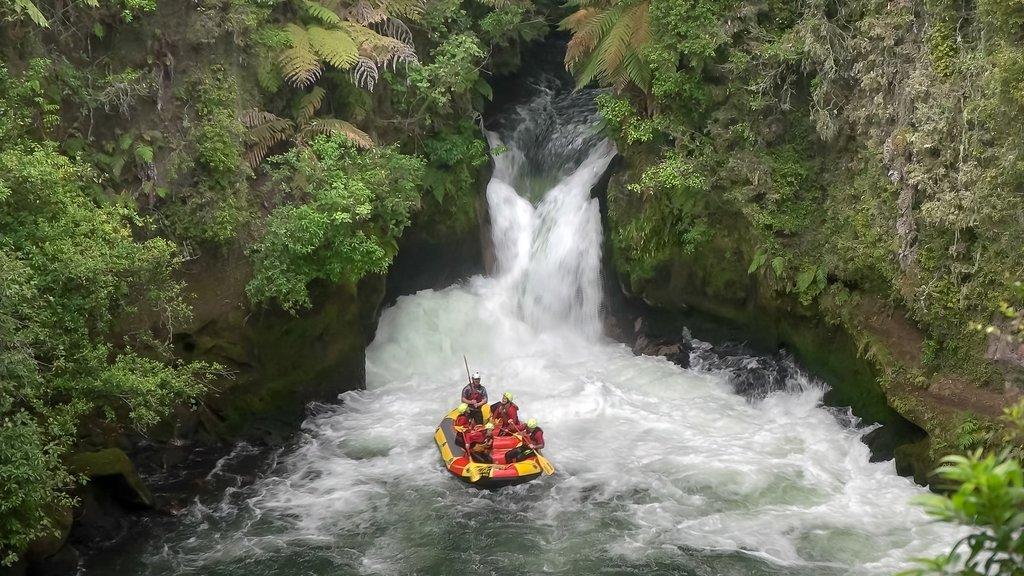 White water rafting near Rotorua