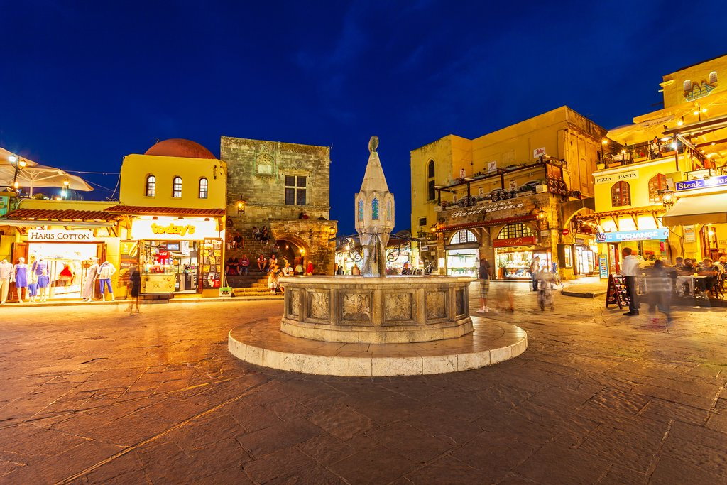 Hippocrates fountain in the Old Town square