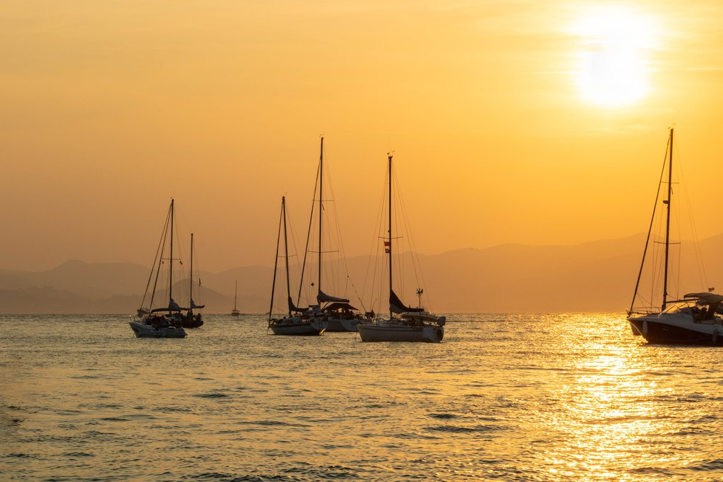 Sunset in the Lerins Islands