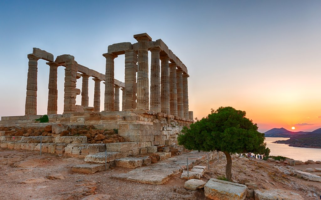 Sunset at the Temple of Poseidon, Sounion