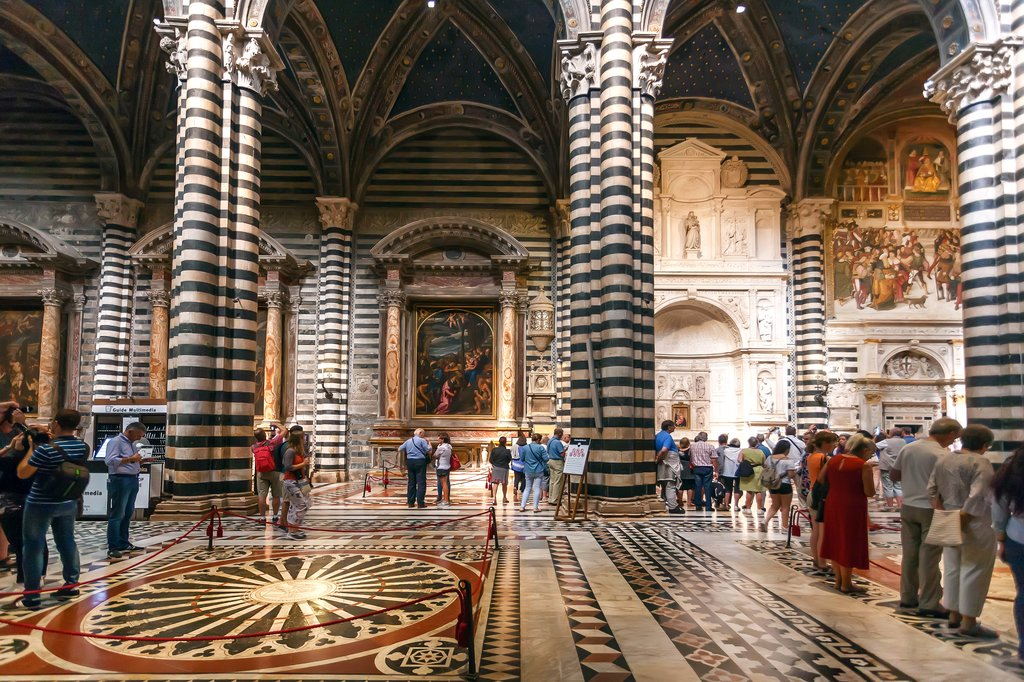 Touring Siena's famous Gothic cathedral