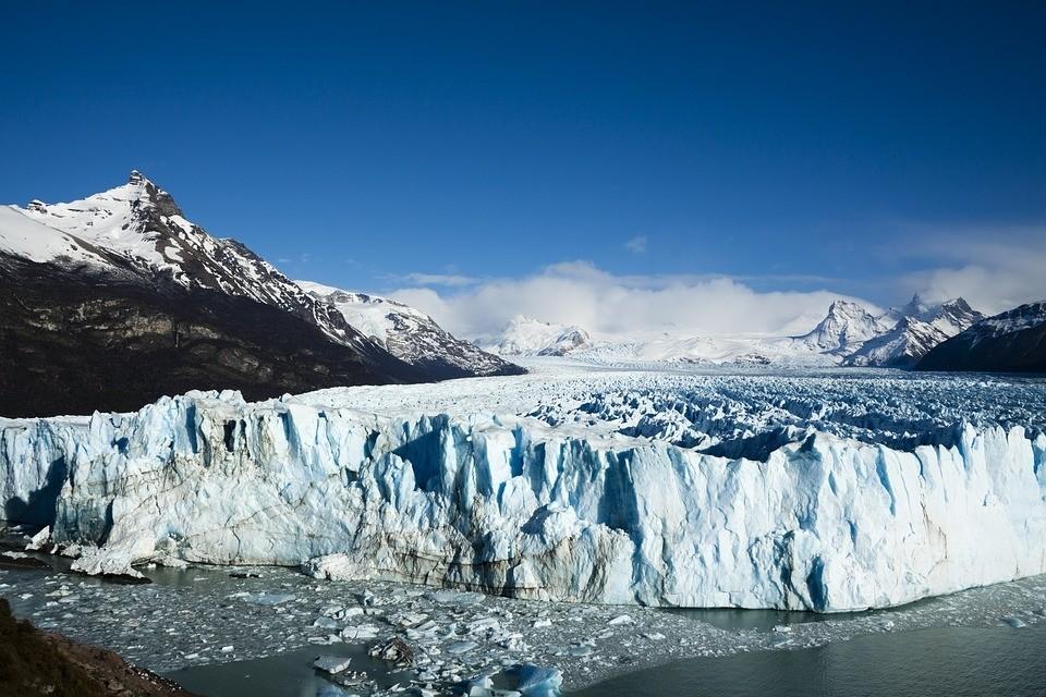 Beautiful vistas of glaciers in Argentine Patagonia