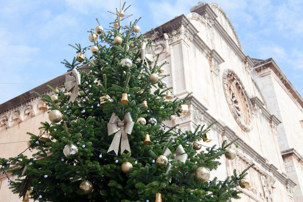 Dubrovnik's Old Town decorated for Christmas