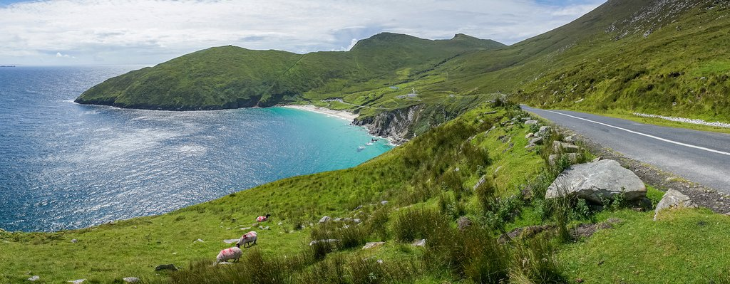The beautiful beaches of Achill Island, County Mayo.