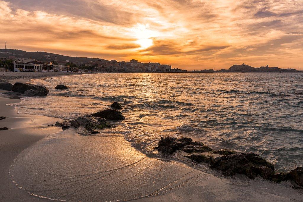 Sunset in Corsica's Balagne region