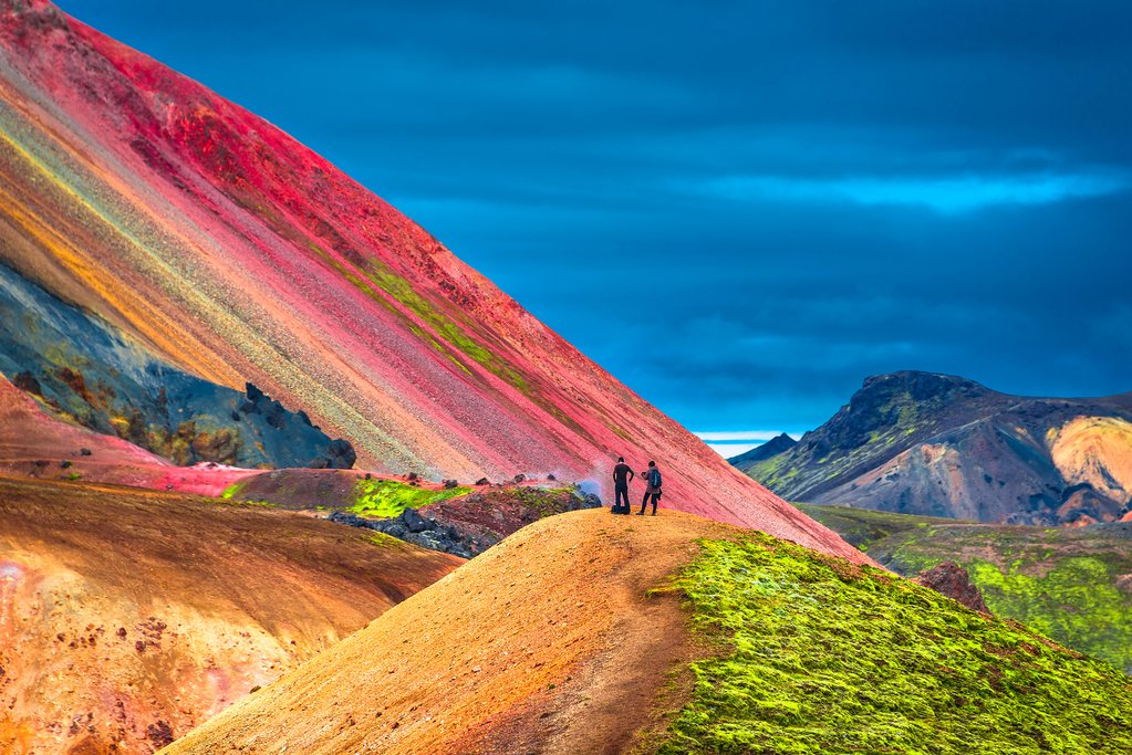 The colorful volcanic mountains at Landmannalaugar.
