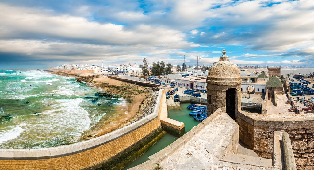 Essaouira's Skala de Kasbah and old fishing port