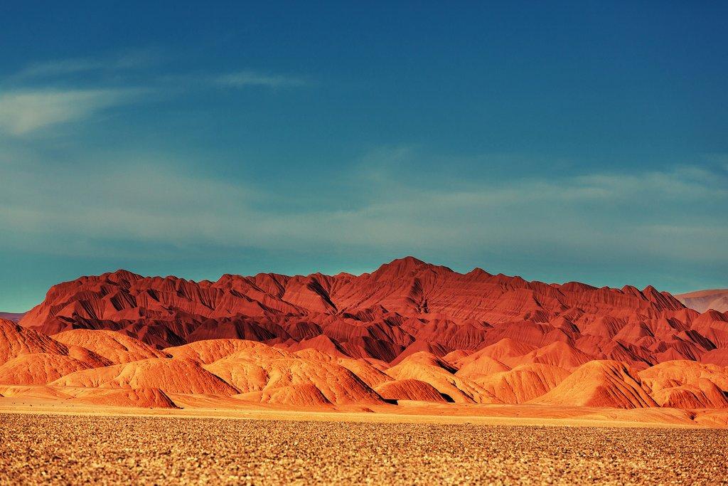 The desert landscape of the Puna de Atacama