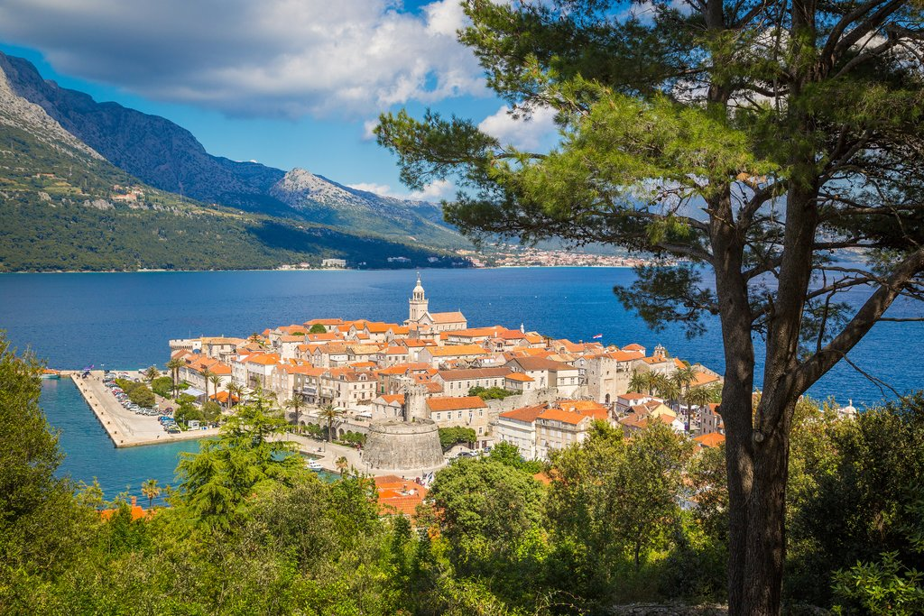 The medieval town of Korcula