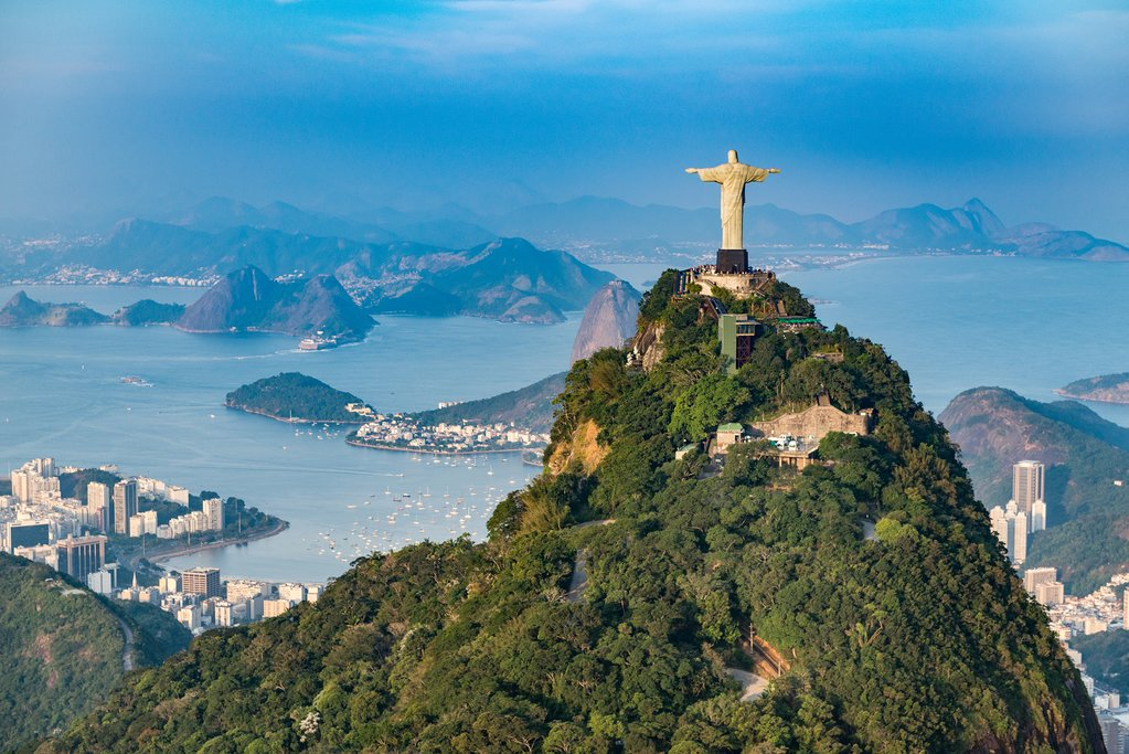 Corcovado Hill in Rio de Janeiro
