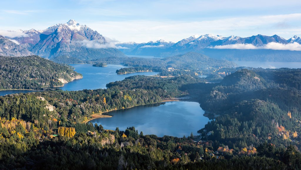 Gorgeous view from the top of Cerro Companario in Nahuel Huapi National Park