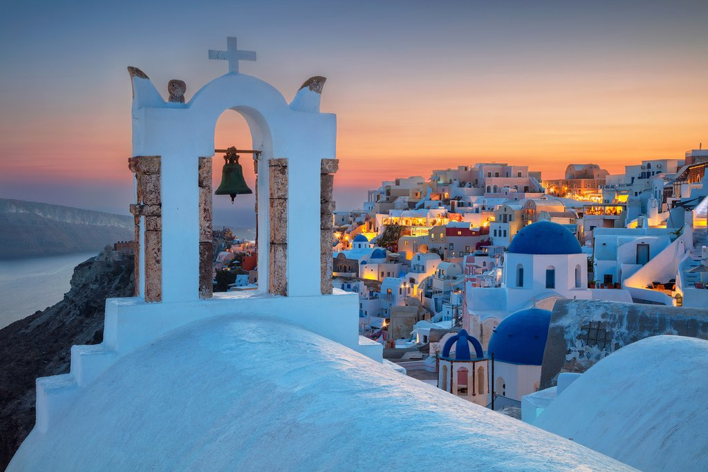 Church rooftop in Oia