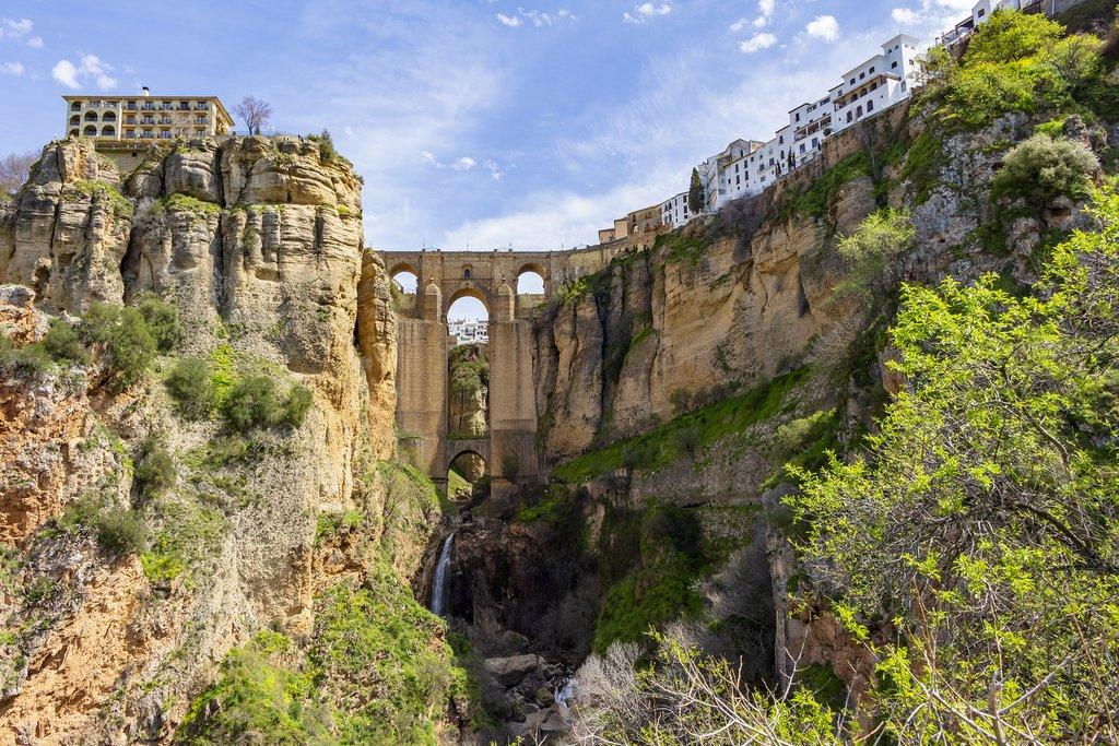 Bridge spanning the gorge in Ronda, Spain