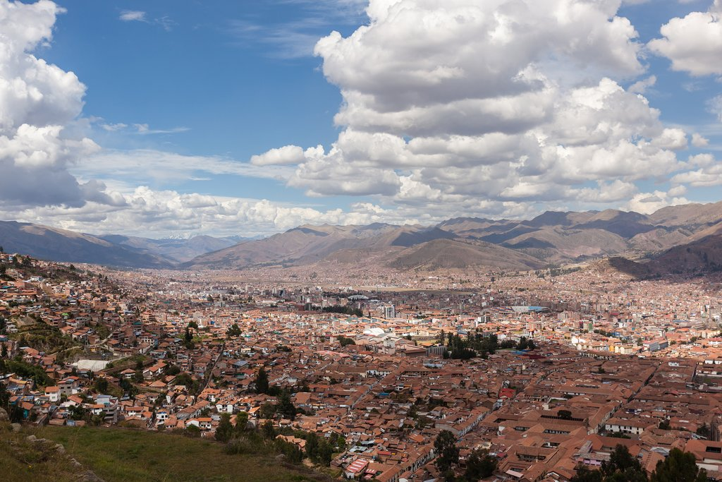 Looking down on the city of Cusco