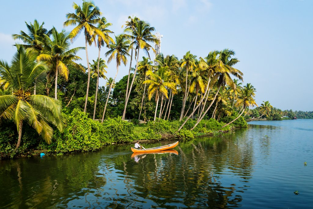 This area of South India is known for its palm-lined network of canals