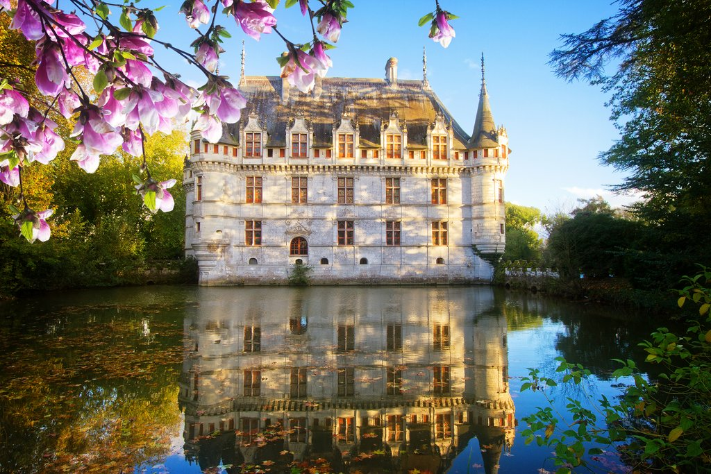 The Azay-le-Rideau Châteaux in the Loire Valley