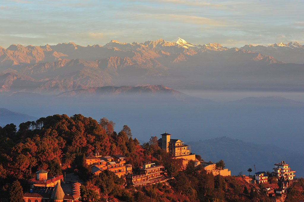 Catch the sunrise for Nagarkot, a hill station on the rim of Kathmandu Valley