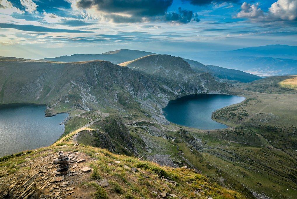 View of the Seven Rila Lakes