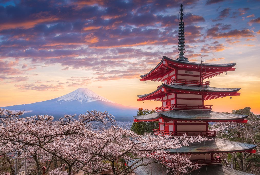 Stop in Mount Fuji on your way to Kyoto