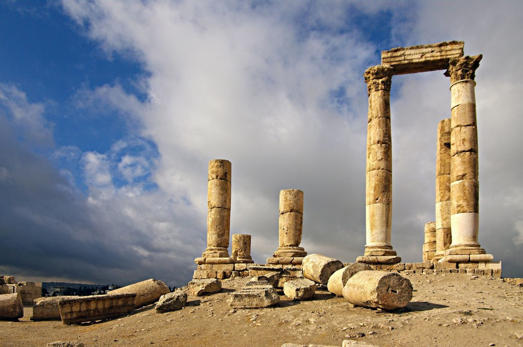 Wander amid the ruins of the former Roman Empire at the Amman Citadel