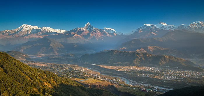 View over the Pokhara Valley from Sarangkot Hill