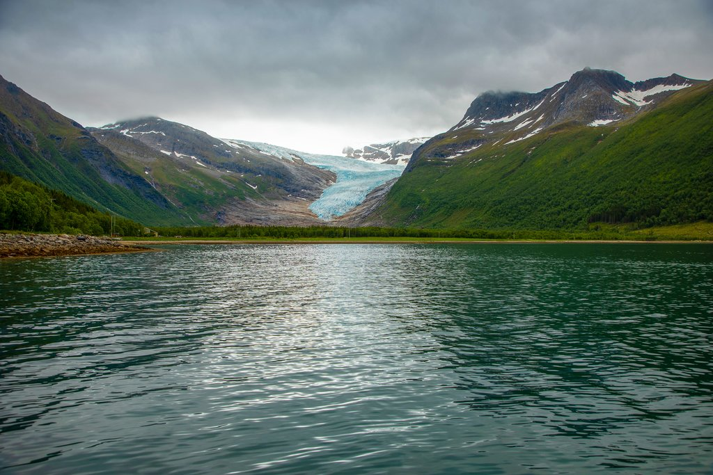 A branch of the Svartisen glacier