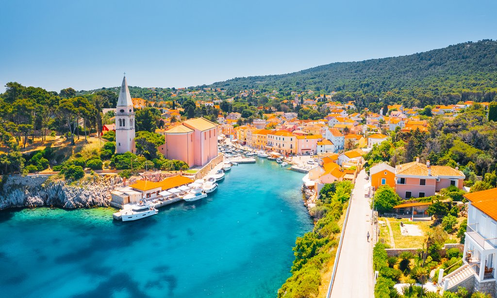 Colorful Harbor of Lošinj