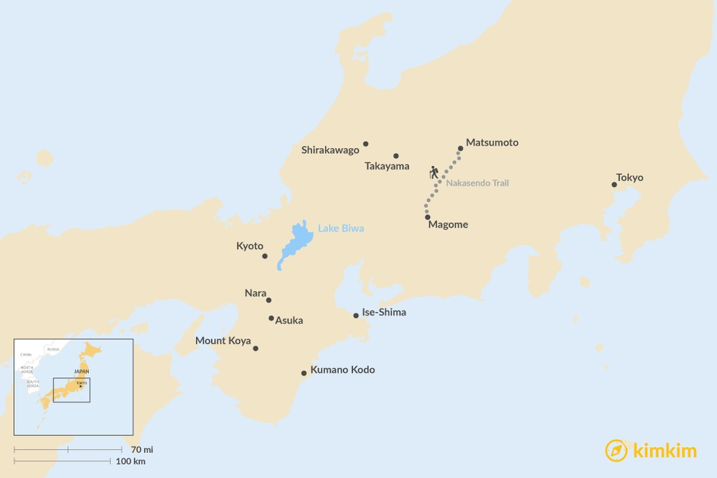 Map of Hidden Gems of Japan: Discovering Unique Places to Visit