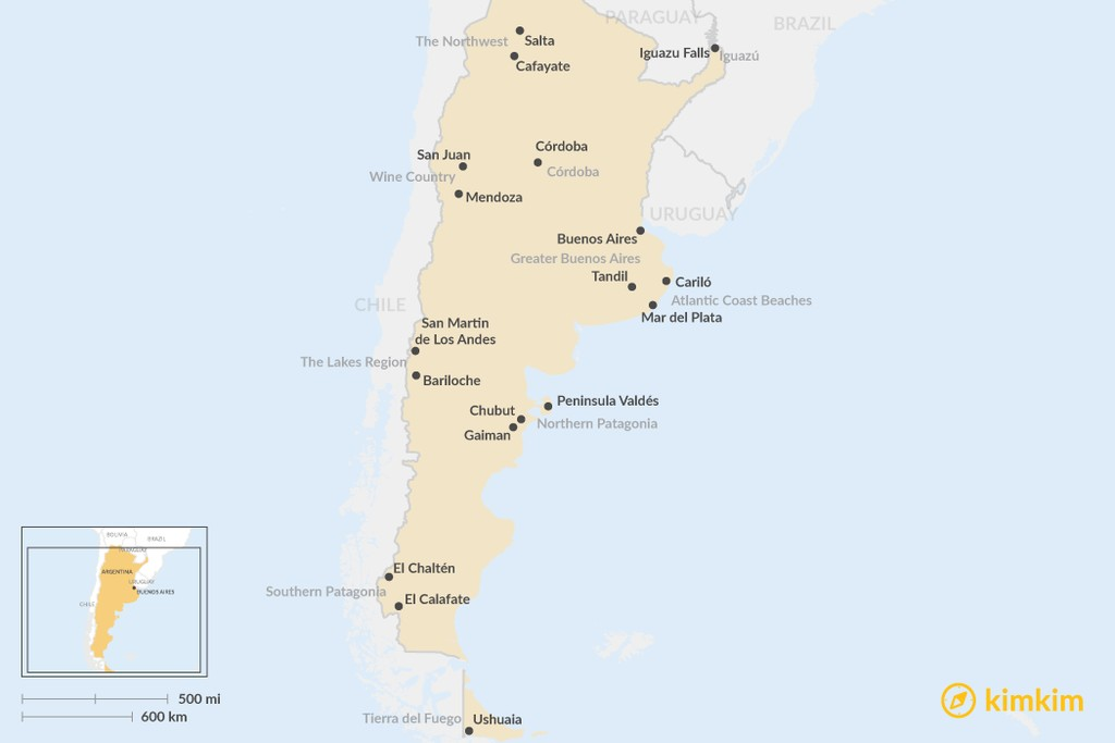 Map of Top 10 Regions in Argentina: Where to Go & What to See