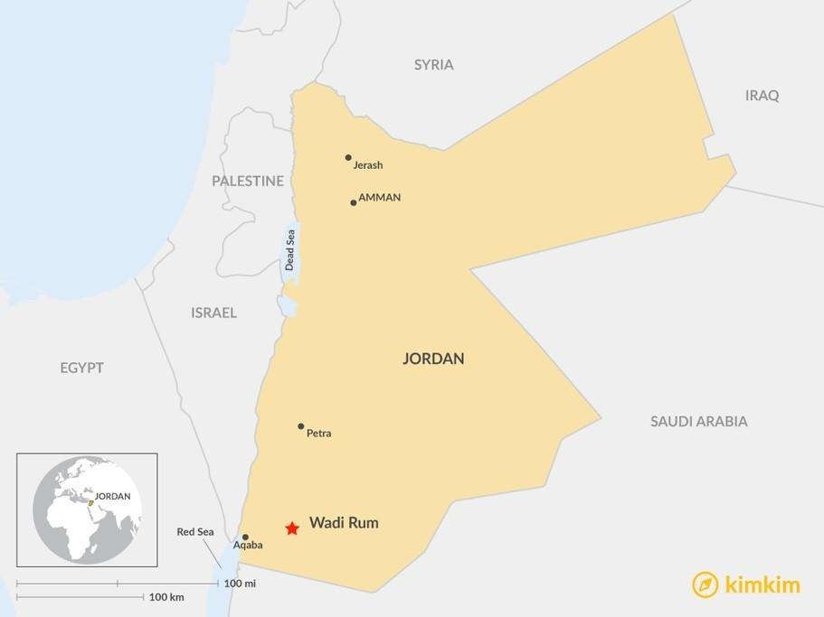 Map of The Ultimate Guide to Wadi Rum - Jordan's Adventure Paradise