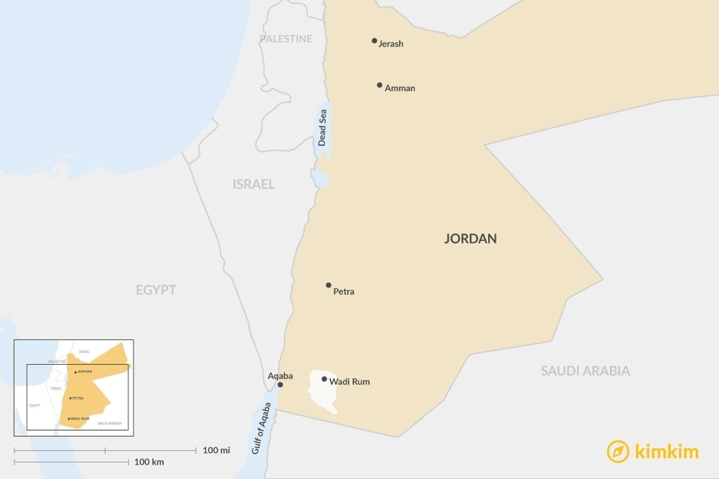 Map of Tips for Jordan's 6 Must-See Places - Where to Go and What to See