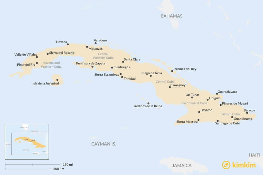 Map of 5 Regions of Cuba: Where to Go & What to Expect