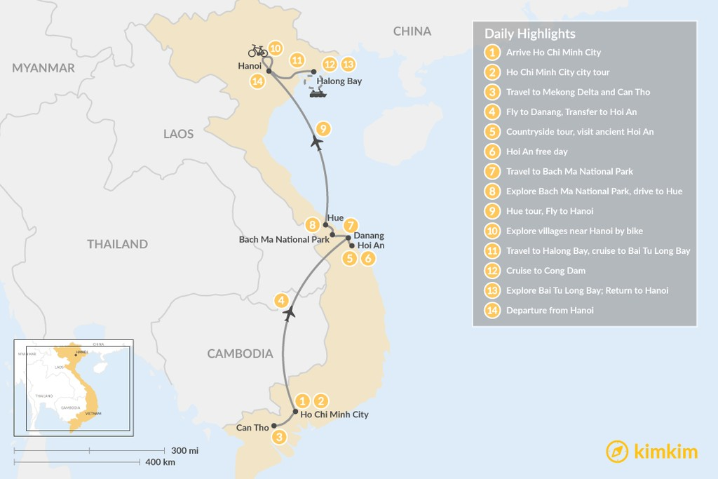 Map of Best of Vietnam - 14 Days